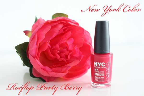 NYC In A New York Color Minute Nail Polish Rooftop Party Berry