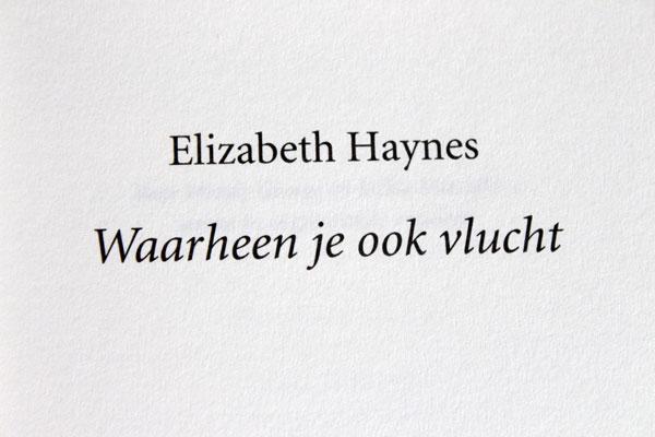 Waarheen je ook vlucht van Elizabeth Haynes