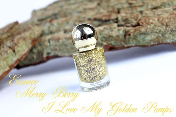 Essence Merry Berry Topcoat I Love My Golden Pumps