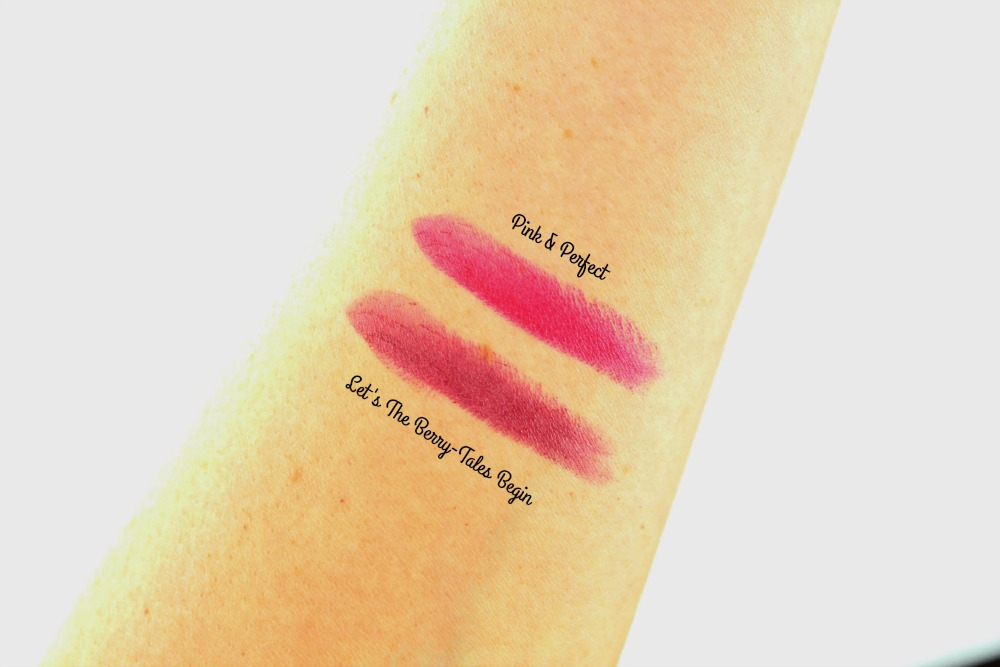 Essence Merry Berry Lipsticks Let's The Berry-Tales Begin & Pink & Perfect