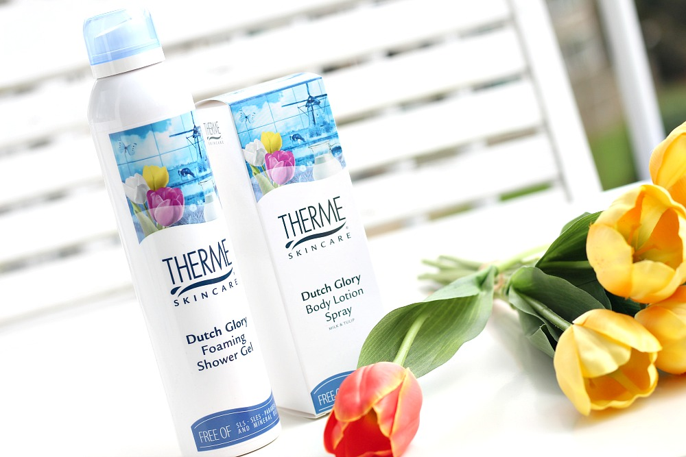 Therme Dutch Glory Foaming Shower Gel & Body Lotion Spray Review Beautyjuf