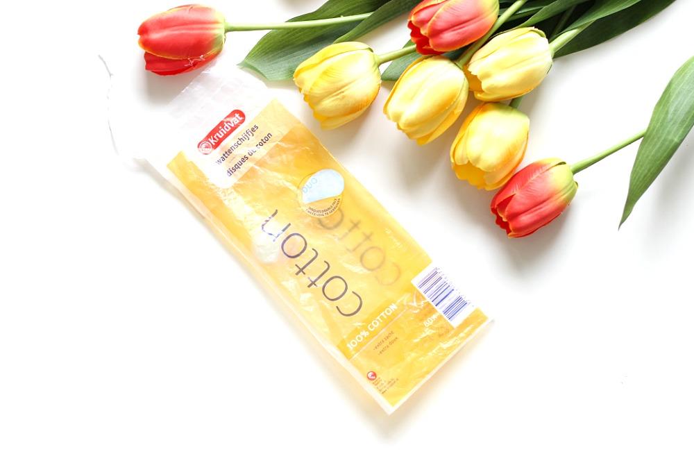 Opgemaakt april 2017 Beautyjuf Kruidvat Wattenschijfjes