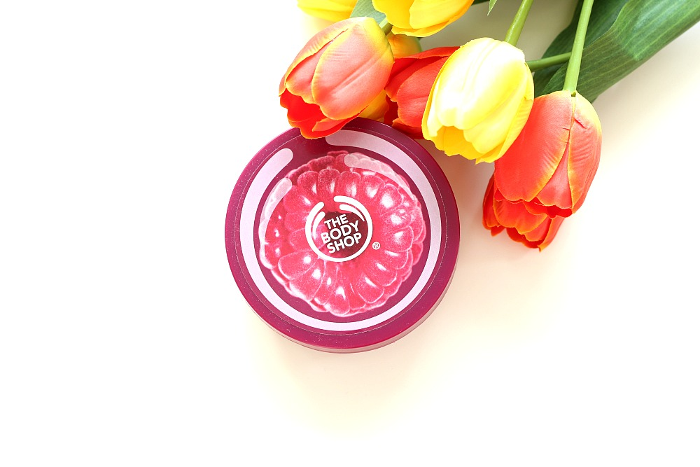 Mijn geopende stash body butters The Body Shop Early Harvest Raspberry Body Butter