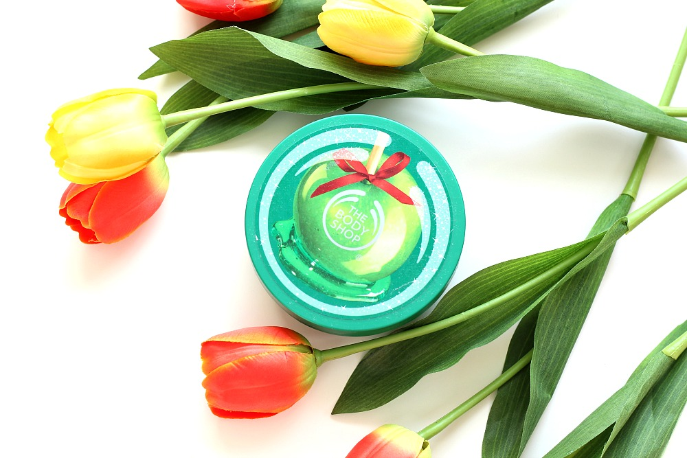 Mijn geopende stash body butters The Body Shop Glazed Apple Body Butter