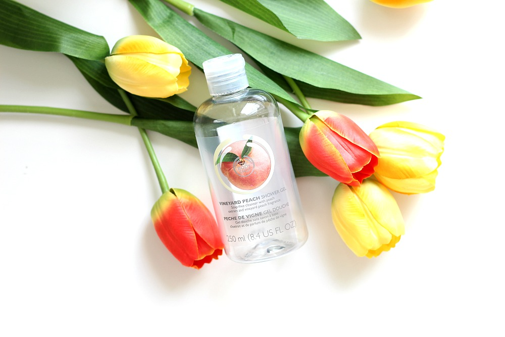 Opgemaakt mei 2017 The Body Shop Vineyard Peach Showergel