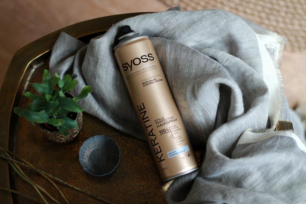 Opgemaakt december 2017 Syoss Keratine Style Perfection Hairspray Review Beautyjuf