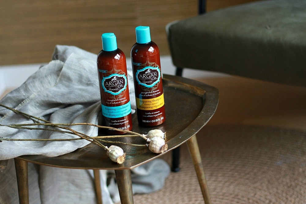 Hask Argan Oil Repairing Shampoo & Conditioner Review