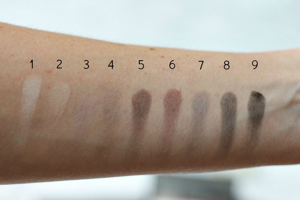 Gosh Eyeshadow Palette To Be Cool In Copenhagen Swatches