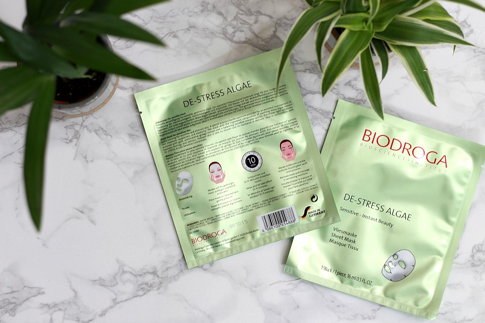 Biodroga De-Stress Algae Sheet Mask Review