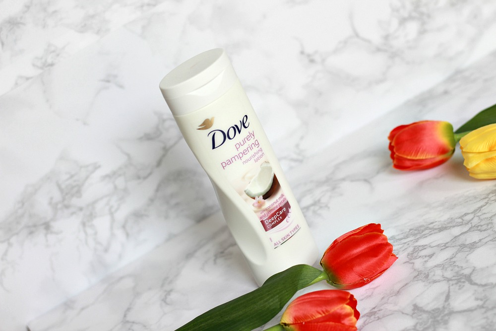 Mijn geopende stash body butters #4 Dove Deep Care Complex Nourishing Body Lotion Purely Pampering