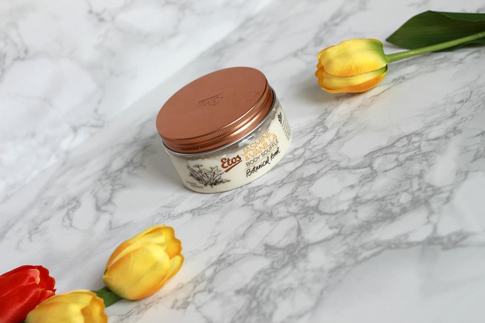 Mijn geopende stash body butters #4 Etos Botanical Boost Jasmine & Vanilla Body Soufflé