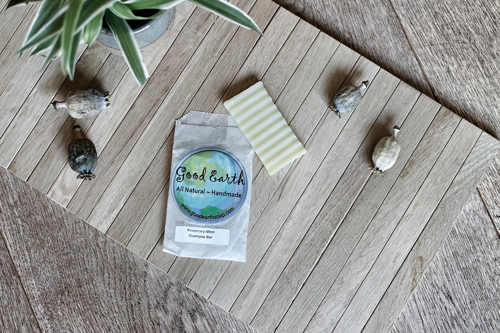 Good Earth Rosemary Mint Shampoo Bar